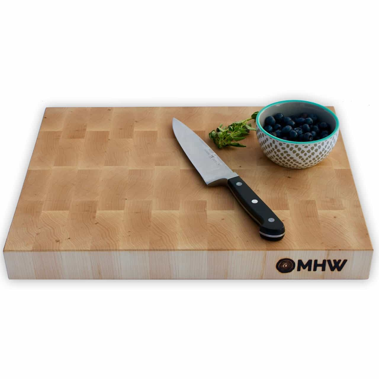 14x24 Maple End Grain Wood Butcher Block - wFREE Board Butter!